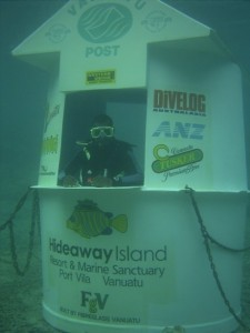 postcard underwater post office